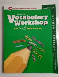 Sadlier Vocabulary Workshop Level Green Enriched Edition With Iwords Audio Program (Teacher'S Annotated Edition)