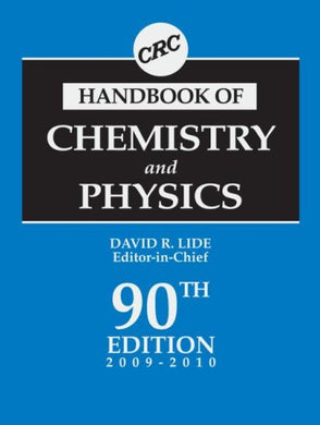 Crc Handbook Of Chemistry And Physics, 90Th Edition (Crc Handbook Of Chemistry & Physics)