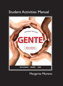 Student Activities Manual For Gente: Nivel Bsico