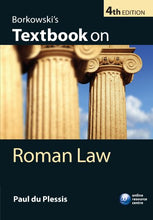 Load image into Gallery viewer, Borkowski'S Textbook On Roman Law