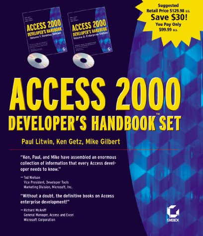 Access 2000 Developer'S Handbook 2 Volume Set