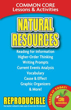 Load image into Gallery viewer, Natural Resources  Common Core Lessons And Activities