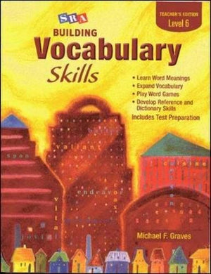 Sra Building Vocabulary Skills Teacher'S Edition Level 6