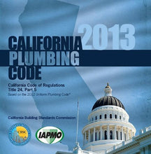 Load image into Gallery viewer, 2013 California Plumbing Code