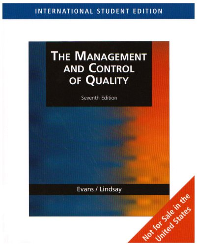 The Management And Control Of Quality