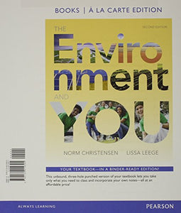 Environment And You, The, Books A La Carte Plus Mastering Environmental Science -- Access Card Package (2Nd Edition)