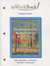 Load image into Gallery viewer, Myworkbook For Developmental Mathematics: Basic Mathematics And Algebra