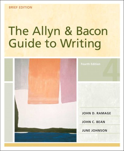 The Allyn & Bacon Guide To Writing, Brief Edition (Mycomplab Series)