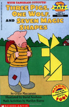 Load image into Gallery viewer, Three Pigs, One Wolf, Seven Magic Shapes (Level 3) (Scholastic Reader, Math)