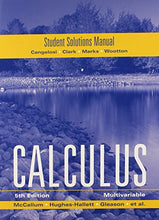 Load image into Gallery viewer, Mccallum, Student Solutions Manual For Multivariable Calculus