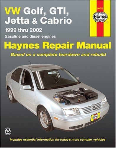 Vw Golf, Gti, Jetta And Cabrio, 1999 Thru 2002, Gasoline And Diesel Engines  (Haynes Repair Manuals)
