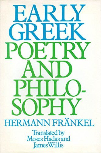 Early Greek Poetry And Philosophy;: A History Of Greek Epic, Lyric, And Prose To The Middle Of The Fifth Century