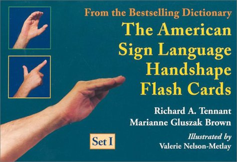 The American Sign Language Handshape Flash Cards Set I