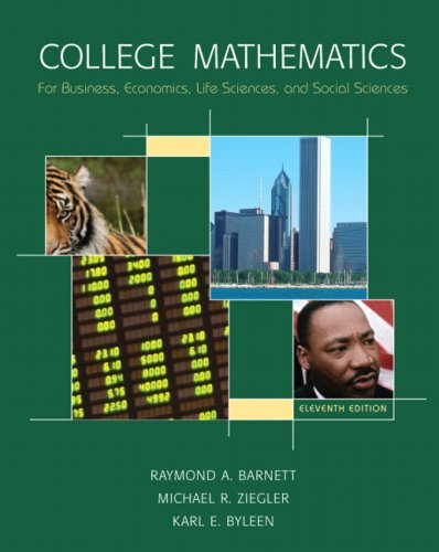 College Mathematics For Business, Economics, Life Sciences & Social Sciences Value Package (Includes Student'S Solutions Manual) (11Th Edition)