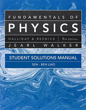 Load image into Gallery viewer, Student Solutions Manual For Fundamentals Of Physics