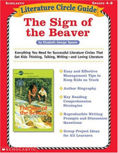 Load image into Gallery viewer, The Sign Of The Beaver (Literature Circle Guide)