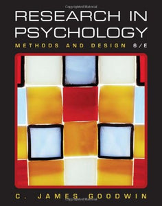 Research In Psychology: Methods And Design