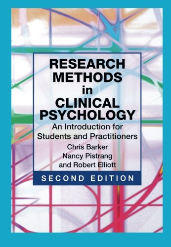 Research Methods In Clinical Psychology: An Introduction For Students And Practitioners