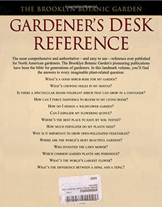 Brooklyn Botanic Garden Gardener'S Desk Reference
