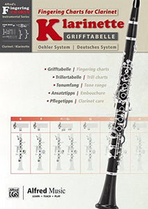 Grifftabelle Fr Klarinette Deutsches System [Fingering Charts For Clarinet -- Oehler System]: German / English Language Edition, Chart (Alfred'S Fingering Charts Instrumental)