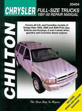 Load image into Gallery viewer, Chilton Chrysler Full-Size Trucks 1997-01 Repair Manual: Covers All U.S. And Can