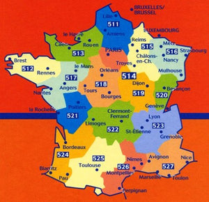 Michelin Map 512 Bretagne (Brittany - France) (Haute Resistance) (Tear-Resistant) (Multilingual Edition)
