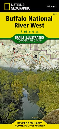 Buffalo National River West : Arkansas, Usa : Hiking & Horse Trails, Trail & River Mileages, Upper Buffalo & Ponca Wilderness, Buffalo River Hiking ... (National Geographic Trails Illustrated Map)