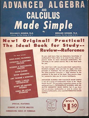 Advanced Algebra And Calculus Made Simple