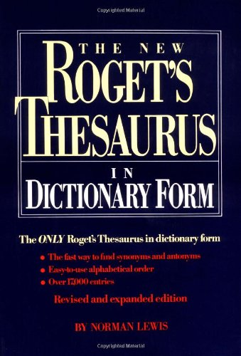 The New Roget'S Thesaurus In Dictionary Form (Thumb-Indexed)