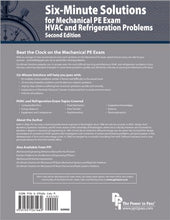 Load image into Gallery viewer, Six-Minute Solutions For Mechanical Pe Exam Hvac And Refrigeration Problems, 2Nd Ed