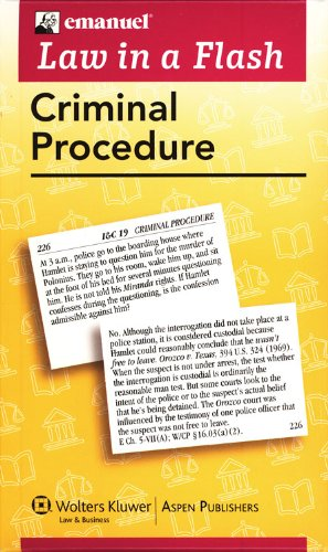 Criminal Procedure Liaf 2007 (Law In A Flash Cards)