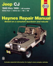 Load image into Gallery viewer, Jeep Cj '49'86 (Haynes Repair Manuals)
