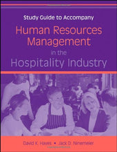 Load image into Gallery viewer, Human Resources Management In The Hospitality Industry, Study Guide