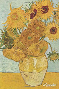 Decorative Notebook: Sunflowers By Vincent Van Gogh Journal Pocket-Sized Notebook Travel Diary