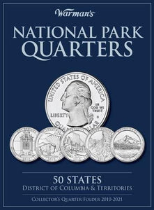 National Parks Quarters: 50 States + District Of Columbia & Territories: Collector'S Quarters Folder 2010-2021 (Warman'S Collector Coin Folders)