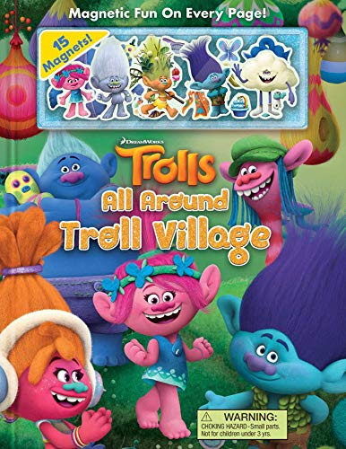Dreamworks Trolls: All Around Troll Village (Magnetic Hardcover)