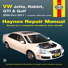 Load image into Gallery viewer, Vw Jetta, Rabbit, Gi, Golf Automotive Repair Manual: 2006-2011