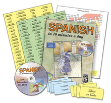 Load image into Gallery viewer, Spanish In 10 Minutes A Day Audio Cd
