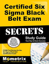 Load image into Gallery viewer, Certified Six Sigma Black Belt Exam Secrets Study Guide: Cssbb Test Review For The Six Sigma Black Belt Certification Exam