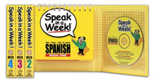 Load image into Gallery viewer, Speak In A Week!: See, Hear, Say & Learn Spanish: 4 Week Set (Spanish Edition)
