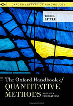 Load image into Gallery viewer, The Oxford Handbook Of Quantitative Methods, Volume 1: Foundations (Oxford Library Of Psychology)