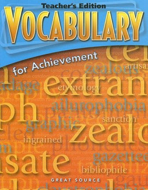 Vocabulary For Achievement: Teacher'S Edition Grade 7 First Course 2006
