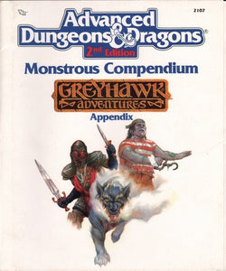 Monstrous Compendium: Greyhawk Adventures (Advanced Dungeons And Dragons, Appendix)