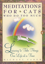 Load image into Gallery viewer, Meditations For Cats Who Do Too Much: Learning To Take Things One Life At A Time