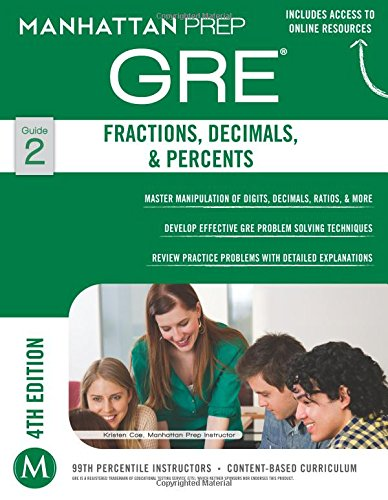 Gre Fractions, Decimals, & Percents (Manhattan Prep Gre Strategy Guides)