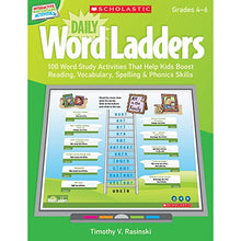 Load image into Gallery viewer, Interactive Whiteboard Activities: Daily Word Ladders (Gr. 46): 100 Word Study Activities That Help Kids Boost Reading, Vocabulary, Spelling & Phonics Skills