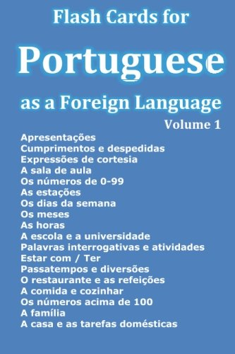 Flash Cards For Portuguese As A Foreign Language (Portuguese Edition)