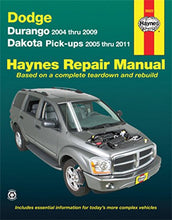 Load image into Gallery viewer, Dodge Durango 2004-2009 Dakota Pickups 2005-2011 (Haynes Repair Manual)