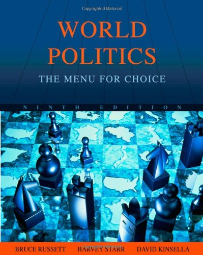 World Politics: The Menu For Choice