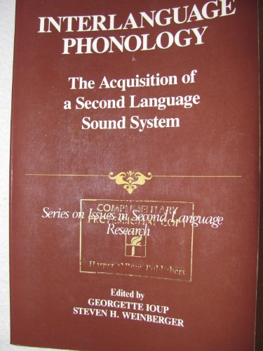 Interlanguage Phonology: Acquisition Of A Second Language Sound System (Series On Issues In Second Language Research)